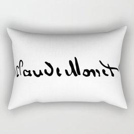 Claude Monet's Signature Rectangular Pillow