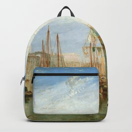 """J. M. W. Turner """"Venice, from the Porch of Madonna della Salute (The Grand Canal - Venice)"""" Backpack"""
