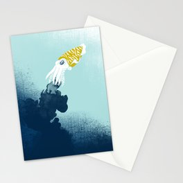 Intelligent Inker - Cranky Cuttlefish Stationery Cards