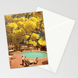 Hot town, summer in the city Stationery Cards