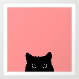 Sneaky black cat Kunstdrucke