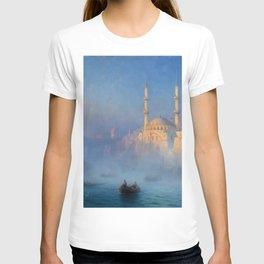 Constantinople (Istanbul) Süleymaniye Mosque in Fog by Ivan Aivazovsky T-shirt