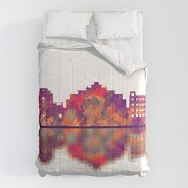 Santa Fe New Mexico Skyline Comforters