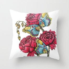 Color Flutter II Throw Pillow