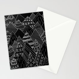 White line mounts Stationery Cards