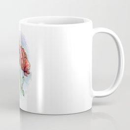 Poppy Flowers Watercolor Coffee Mug