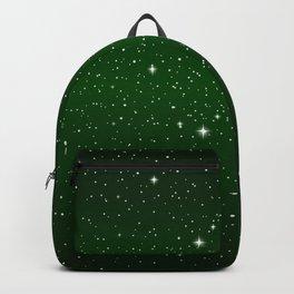 Green galaxy stars Backpack