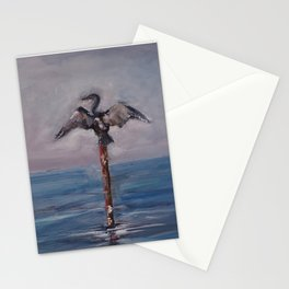 Cormorant Waiting for the Sunset Stationery Cards