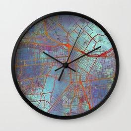 Lima Peru Street Map Urban Wall Clock