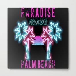 Beach Club Party Time Metal Print
