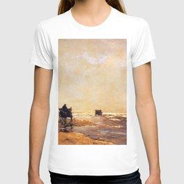 Beach View 1891 By Johan Hendrik Weissenbruch | Reproduction T-shirt