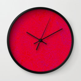 quantum waves red red Wall Clock