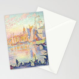 The Port of Saint-Tropez, Paul Signac, 1901 Stationery Cards