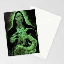Cthulhu Green Demon Nun Art Stationery Cards
