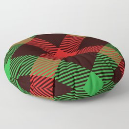 christmas plaid pattern Floor Pillow