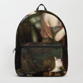 John William Waterhouse - Lamia - Digital Remastered Edition Backpack