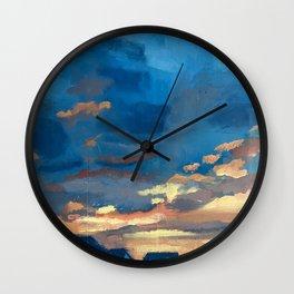 Neighborhood sunset Wall Clock