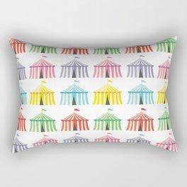 colourful circus tents Rectangular Pillow