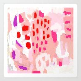 Wesli - minimalist pink purple white trendy millennial pink home decor canvas art Art Print