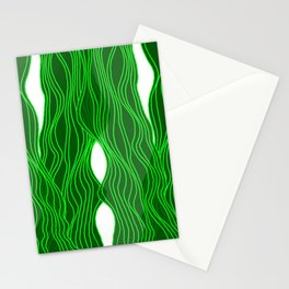 Parallel Lines No.: 03. - Green, Symmetrical Stationery Cards