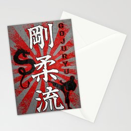 Goju Ryu Fighter and Dragon, Goju Ryu Karate kanji Stationery Cards