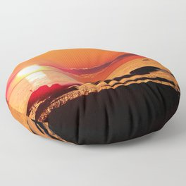 Sailing into the Night Floor Pillow