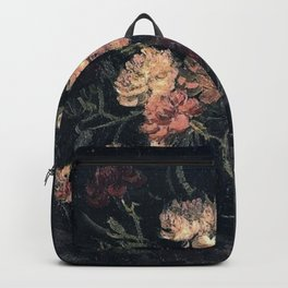 Vincent van Gogh Vase With Carnations 1886 Backpack