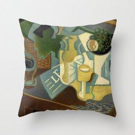 """Juan Gris """"La table devant le bâtiment"""" Throw Pillow"""
