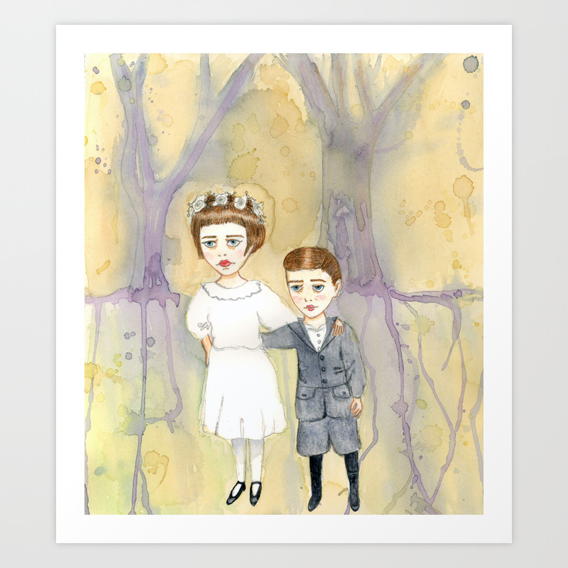 Rita And Charles Le Ray Art Print by Amandapulley PRN919965