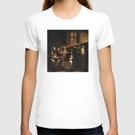 Calling of Saint Matthew - Caravaggio T-shirt