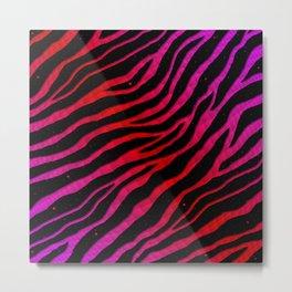 Ripped SpaceTime Stripes - Pink/Red Metal Print