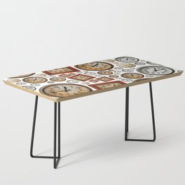 Old wall clocks background Coffee Table