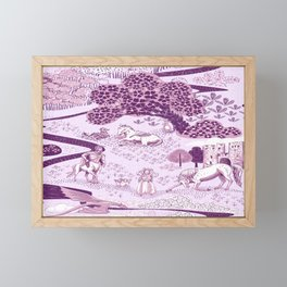 Mythical Creatures Toile- Plum purple colors Framed Mini Art Print