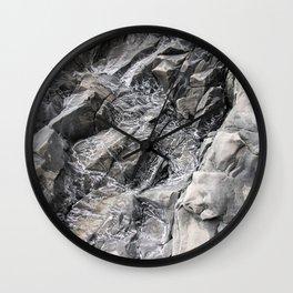 Reynisfjara Cliff Detail Wall Clock