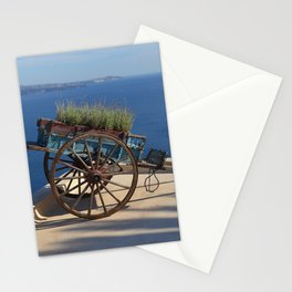 Santorini rooftop - Fine Art Travel Photography Stationery Cards