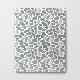 Watercolor Gravel - Pattern Metal Print