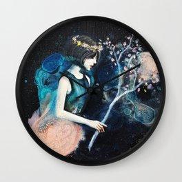 Midnight Flower Wall Clock