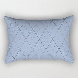 Argyle (Dove Grey) Rectangular Pillow