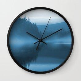 Blue Mist at Langsett Reservoir  Wall Clock
