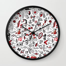 Friday the 13th Tattoo Flash Wall Clock