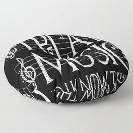 Music Lover Musical Notes Gift Motif Floor Pillow