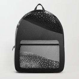 Whale shark black white Backpack