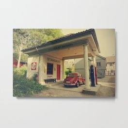 Old gas station in Norway - Fine Arts Travel Photography Metal Print