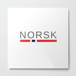 Norsk Norway Metal Print