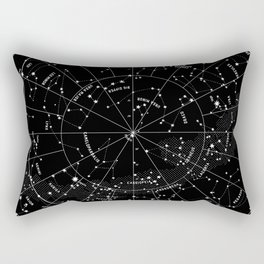 Constellation Map - Black & White Rectangular Pillow