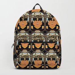 Ice Hockey Black and Yellow - Boardie Zamboni - Indie version. Backpack
