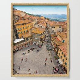 Cortona Piazza in Tuscany Serving Tray