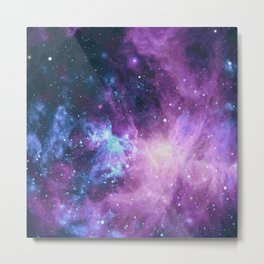 Galaxy dust space with stars Metal Print