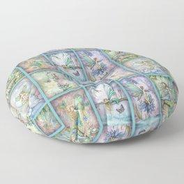 Many Fairies Molly Harrison Fantasy Art Floor Pillow