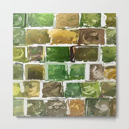Abstract Colour Collage 1761 Metal Print